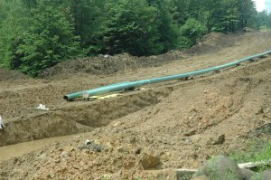 Recently constructed pipeline